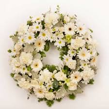 Sympathy Wreath with 60 mix flowers