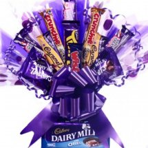 Assorted 25 cadbury chocolates in a bouquet