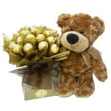 chocolate-bouquet with teddy